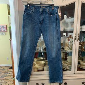 Wrangler Retro worn in Slim Bootcut Jeans 36x34